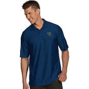 Antigua Men's West Virginia Mountaineers Blue Illusion Polo