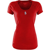 Antigua Women's Seattle Mariners Patriotic Logo Red Pep T-Shirt