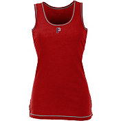 Antigua Women's Pittsburgh Priates Patriotic Logo Red Sport Tank Top