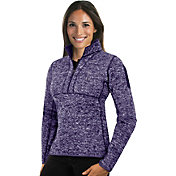 Antigua Women's Colorado Rockies Purple Fortune Half-Zip Pullover