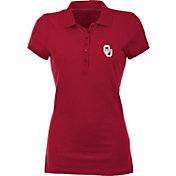 Antigua Women's Oklahoma Sooners Crimson Spark Polo