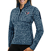 Antigua Women's Houston Texans Fortune Navy Pullover Jacket