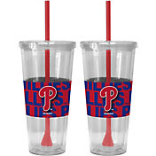 Boelter Philadelphia Phillies Bold Sleeved 22oz Straw Tumbler 2-Pack