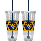 Boelter West Virginia Mountaineers Bold Sleeved 22oz Straw Tumbler 2-Pack