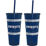 Boelter New England Patriots Bling 22oz Straw Tumbler 2-Pack