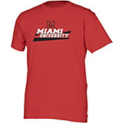 boxercraft Men's Miami Redhawks Red Just for You Crew Wordmark and Logo T-Shirt