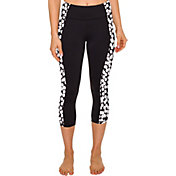 Betsey Johnson Performance Women's Printed Side Panel Capris Leggings
