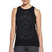 CALIA by Carrie Underwood Women's Flow Loop Back Stay The Path Graphic Tank Top
