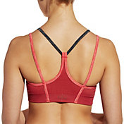 CALIA by Carrie Underwood Women's Inner Power V-Back Strap Seamless Striped Sports Bra
