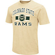 Colosseum Athletics Men's Colorado State Rams Gold Dual-Blend T-Shirt