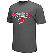 Colosseum Athletics Men's Wisconsin Badgers Grey Classic T-Shirt