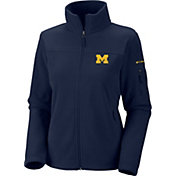 Columbia Women's Michigan Wolverines Blue Give and Go Full-Zip Fleece