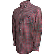 Campus Specialties Men's Cincinnati Bearcats Multi-Checkered Woven Long Sleeve Shirt