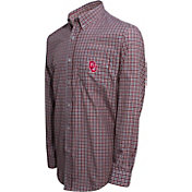 Campus Specialties Men's Oklahoma Sooners Crimson Multi-Checkered Woven Long Sleeve Shirt