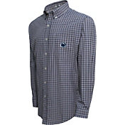 Campus Specialties Men's Penn State Nittany Lions Blue Multi-Checkered Woven Long Sleeve Shirt