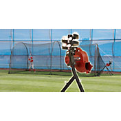 Heater BaseHit Baseball Pitching Machine & Xtender 24' Batting Cage