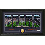 The Highland Mint Chicago Bears Framed 'Silhouette' Bronze Coin Photo Mint