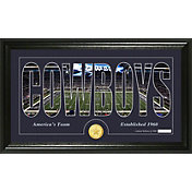 The Highland Mint Dallas Cowboys Framed 'Silhouette' Bronze Coin Photo Mint