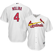Majestic Men's Replica St. Louis Cardinals Yadier Molina #4 Cool Base Home White Jersey