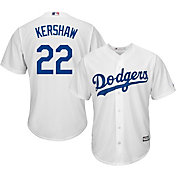 Majestic Men's Replica Los Angeles Dodgers Clayton Kershaw #22 Cool Base Home White Jersey