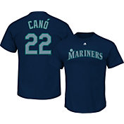 Majestic Men's Seattle Mariners Robinson Cano #22 Navy T-Shirt