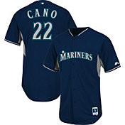 Majestic Men's Authentic Seattle Mariners Robinson Cano #22 Navy Cool Base Batting Practice Jersey