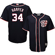 Majestic Men's Replica Washington Nationals Bryce Harper #34 Cool Base Alternate Navy Jersey