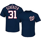 Majestic Men's Washington Nationals Max Scherzer #31 Navy T-Shirt