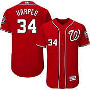 Majestic Men's Authentic Washington Nationals Bryce Harper #34 Alternate Red Flex Base On-Field Jersey