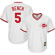 Majestic Men's Replica Cincinnati Reds Johnny Bench Cool Base White Cooperstown Jersey