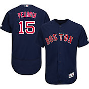 Majestic Men's Authentic Boston Red Sox Dustin Pedroia #15 Alternate Navy Flex Base On-Field Jersey
