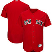 Majestic Men's Authentic Boston Red Sox Alternate Red Flex Base On-Field Jersey