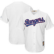 Majestic Men's Replica Texas Rangers Cool Base White Cooperstown Jersey