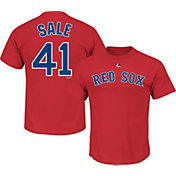 Majestic Men's Boston Red Sox Chris Sale #41 Red T-Shirt