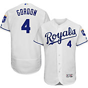 Majestic Men's Authentic Kansas City Royals Alex Gordon #4 Home White Flex Base On-Field Jersey