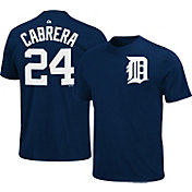 Majestic Triple Peak Men's Detroit Tigers Miguel Cabrera Navy T-Shirt