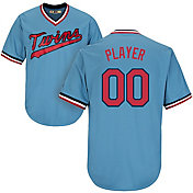 Majestic Men's Full Roster Cool Base Cooperstown Replica Minnesota Twins 1965 Light Blue Jersey
