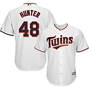 Majestic Men's Replica Minnesota Twins Torii Hunter #48 Cool Base Home White Jersey