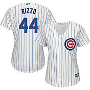 Majestic Women's Replica Chicago Cubs Anthony Rizzo #44 Cool Base Home White Jersey