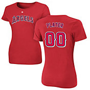 Majestic Women's Full Roster Los Angeles Angels Red T-Shirt