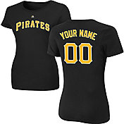 Majestic Women's Custom Pittsburgh Pirates Black T-Shirt