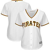 Majestic Women's Replica Pittsburgh Pirates Cool Base Home White Jersey