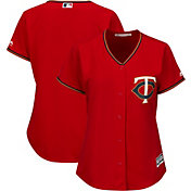 Majestic Women's Replica Minnesota Twins Cool Base Alternate Red Jersey