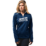 Majestic Women's New York Yankees On-Field Navy Authentic Collection Quarter-Zip Pullover