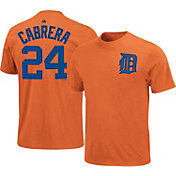 Majestic Youth Detroit Tigers Miguel Cabrera #24 Orange T-Shirt