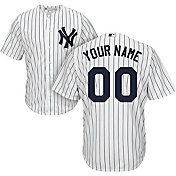 Majestic Youth Custom Cool Base Replica New York Yankees Home White Jersey