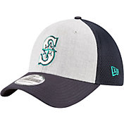 New Era Men's Seattle Mariners 39Thirty Heather Grey Neo Flex Hat