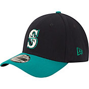 New Era Men's Seattle Mariners 39Thirty Alternate Classic Navy Flex Hat