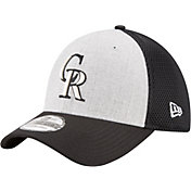 New Era Men's Colorado Rockies 39Thirty Heather Grey Neo Flex Hat