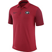 Nike Men's Georgia Bulldogs Red Team Issue Football Sideline Performance Polo